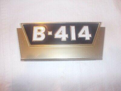 Farmall Ihc B414 Ih Tractor Original Nos Front Hood Side Panel Gold Emblem Rare