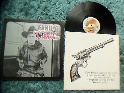 FAMILY - IT'S ONLY A MOVIE - A1/B1 PREFIX - LYRICS - 1973 - GUN INNER SLEEVE
