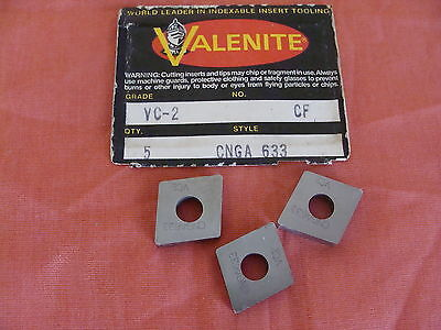 New Old Stock Valenite Cnga633 Carbide Inserts Grade Vc 2 Cf Lot Of 3