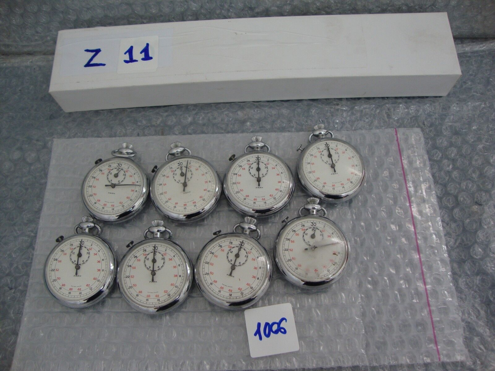 8 UNITS Vintage PARK stopwatch for parts or repair