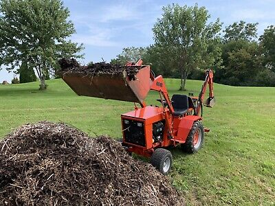 Ingersoll 6018 Loader Tractor With Grapple And Backhoe Attachment. Case