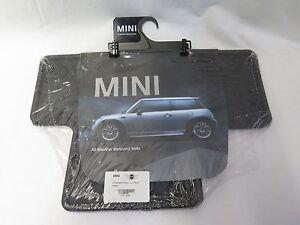 OEM Mini Cooper R50 R53 Black Rubber Floor Mats Rear 82550146458