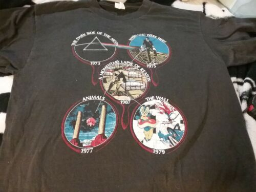 PINK FLOYD 1987 LEARNING TO FLY TOUR 1 STICH SHIRT XL NMINT RARE CLEAN HTF VTG!