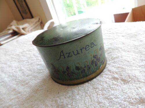 ART NOUVEAU  Vintage Antique POUDRE AZUREA LT Piver PARIS Tin