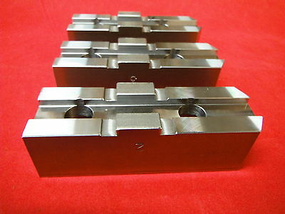 Cnc Mill Lathe Part 10 Chuck Soft Steel Jaws Tongue Groove M2026257 New