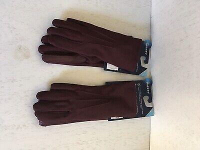 2 pair isotonic women's smart drinks spandex glove smart touch technology -plum