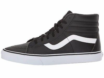 97fa48de7d Men s Vans Sk8-Hi Reissue Hi Top Fashion Sneaker Black Leather Shoes All  SZs NEW