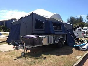 Emu Off Road Camper Trailer fitted with a family tent Currumbin Gold Coast South Preview