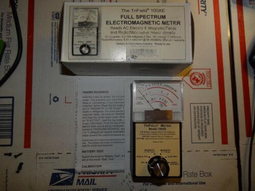 Trifield EMF Meter 100XE Analog Electric Magnetic Microwave Radio