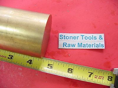 1-34 C360 Brass Round Rod 4.5 Long Solid 1.75 Diameter H02 Lathe Bar Stock