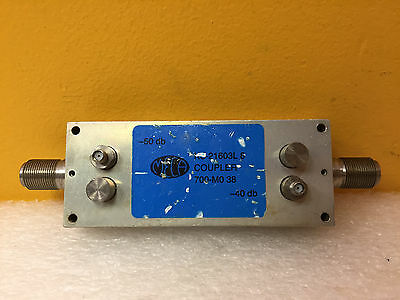 Meca Ks-21603l4 800 To 900 Mhz 20 Db 1500 W Type N M-f Directional Coupler
