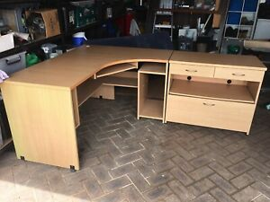 Large corner office desk