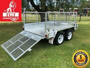 8x5 Trailer Tandem Galvanised Ramp 600mm Mesh Cage 2000kgs ATM Box Hill Whitehorse Area Preview