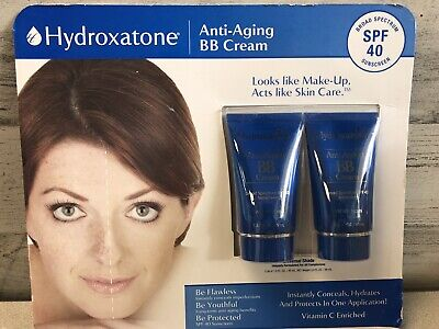 2 PACK Hydroxatone Anti-Aging BB Cream, SPF 40 Universal Shade 1.5 OZ EACH