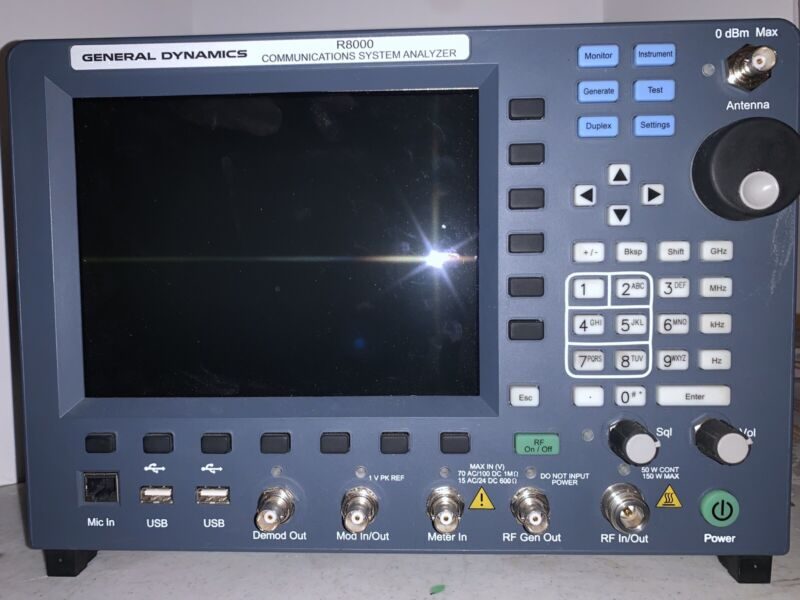 General Dynamics R8000 Communications Systems Analyzer 250kHz To 3GHz