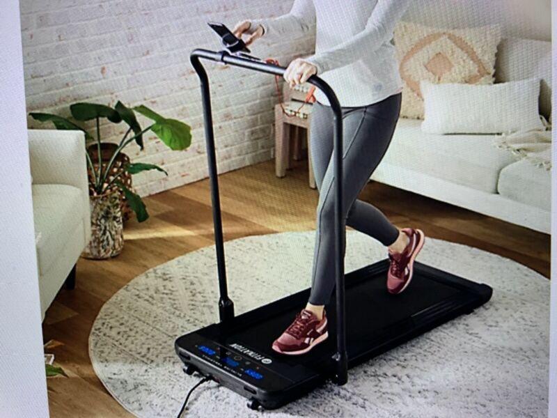 Fitnation by Echelon NEW IN  BOX Black Foldable Stowable Slim Line Treadmill