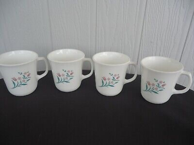 4 corelle corningware  rose marie rosemarie coffee mugs - Corelle Rosemarie