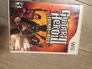 Wii guitar hero game -Legends of Rock