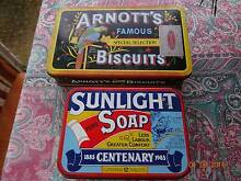 Arnotts Biscuit / Sunlight Soap - Collector's Tins Chermside West Brisbane North East Preview
