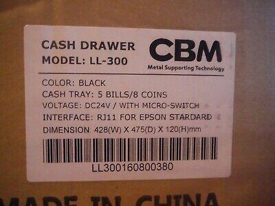 New Cbm Ll-300 Electronic Cash Drawer 428w X 475h X 120d Mm