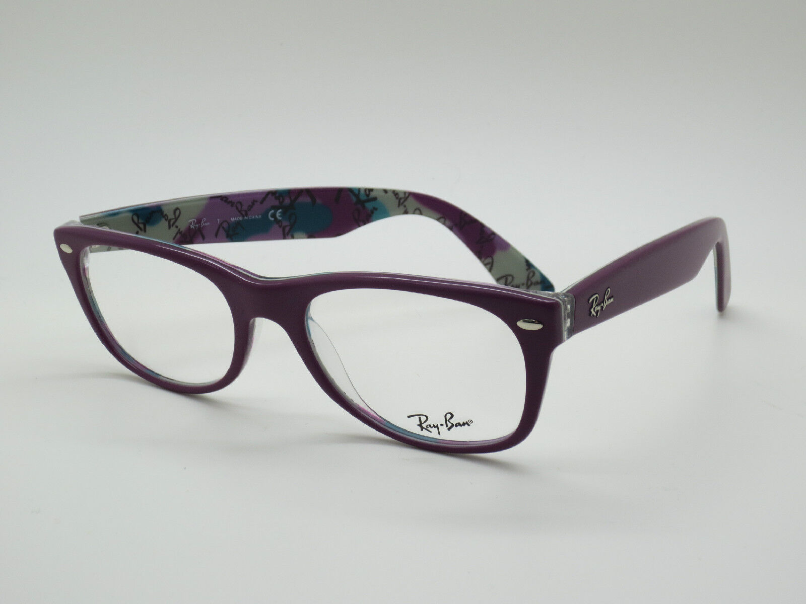 authentic ray ban eyeglasses  NEW Authentic Ray Ban RB 5184 5408 New Wayfarer Matte Purple 52mm ...