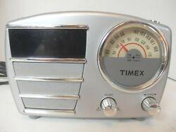Retro Timex Alarm Clock Radio-T247S-Small Crack On Corner-Free Shipping