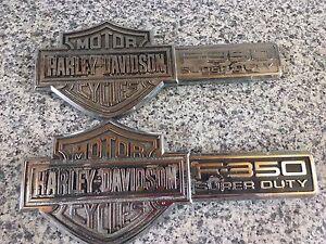 Crest Harley Davidson en métal