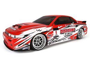 HPI E10 4WD 1/10 Drift Car with Discount Tyre Falken Nissan S13 Body 109291