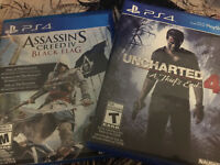 PS4 Classic Games (UNCHARTED 4 + ASSASSIN'S CREED-BLACK FLAG)