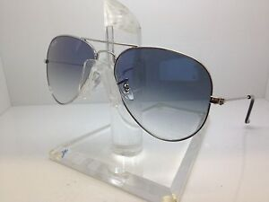 New-Ray-Ban-Sunglasses-RB-3025-003-3F-62MM-rb3025-62MM-SILVER-LIGHT-BLUE-LENS