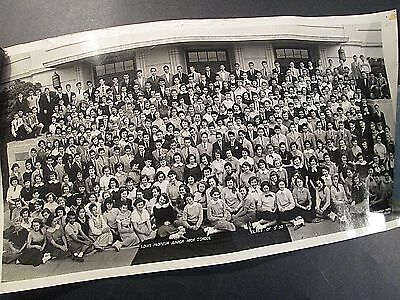 "SUMMER 1953 19"" Panoramic Class Photo LOUIS PASTEUR JR HIGH SCHOOL Los Angeles"