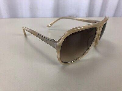 Michael Kors MKS293 724 ISLA Tan Beige Horn Silver Sunglasses Blonde AVIATOR