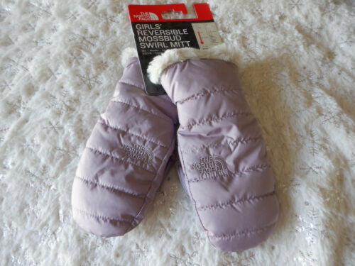 The North Face Kids Reversible Mossbud Swirl Mitt Ashen Purple Size L New