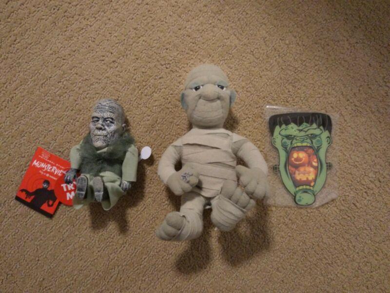 Spirit Halloween Animated Monsterville Mummy Screamer, stuffed Mummy and More