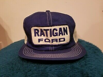 e5865420679e0 Vtg 70s 80s Ford ratigan K Products Brand Snapback Trucker Hat Cap USA