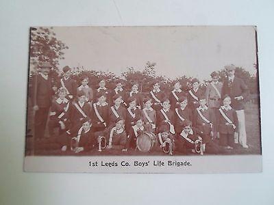 Rare RPPC 1st Leeds Co Boys' Life Brigade (M C Rookledge Chapel Town Rd)  §D122