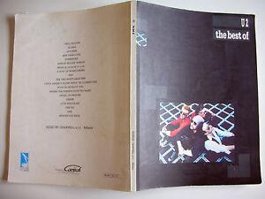 Libro-Spartiti-e-testi-U2-THE-BEST-OF-Songbook-19-brani