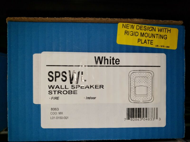 System Sensor SPSWL Wall Speaker Strobe, White