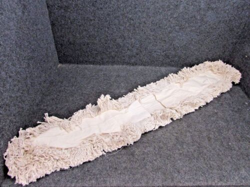 """NOS! DELUXE DUST MOP REPLACEMENT HEAD 5"""" X 48"""", WASHABLE REFILL MOP PAD"""