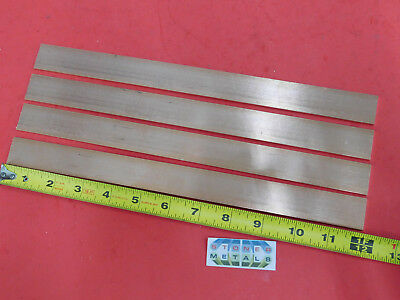 4 Pieces 18 X 1 C110 Copper Bar 12 Long Solid Flat Mill Bus Bar Stock H02