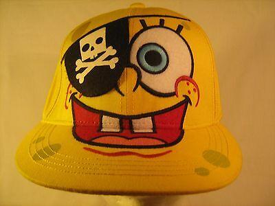 MEN'S or YOUTH CAP SPONGEBOB Pirate Nickelodeon Hat Size 7 S/M [Y154e] - Spongebob Hat