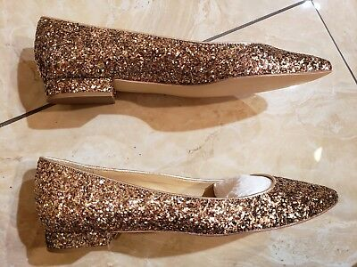Skimmer 2 Slip - TALBOTS GOLD GLITTER POINTED TOE SLIP ON 1/2