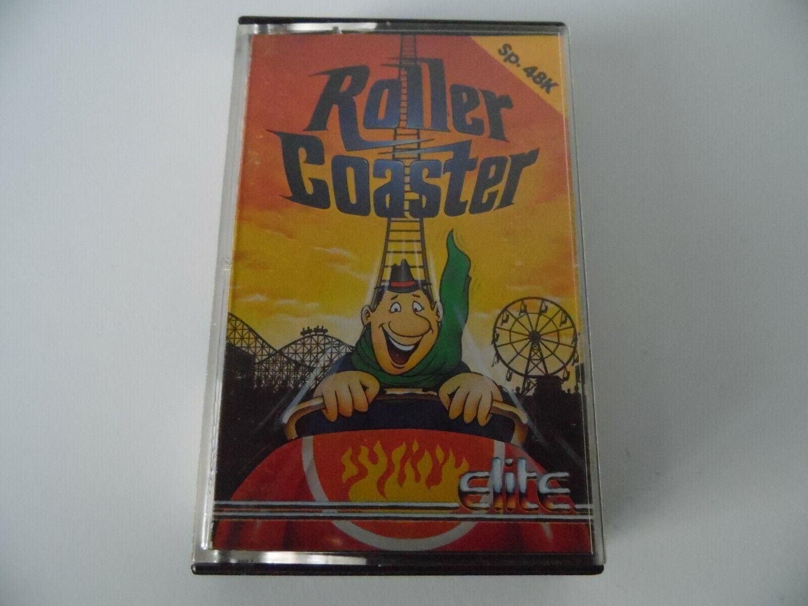 retro computer games - 1985 ELITE ROLLER COASTER VIDEO GAME CASSETTE SPECTRUM 48K COMPUTER RETRO ARCADE
