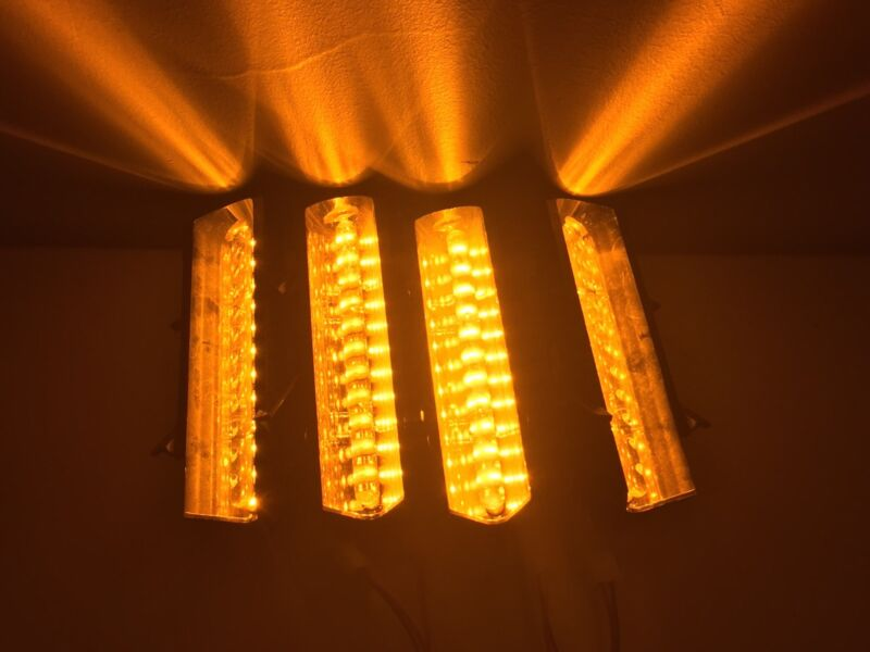🔶 (4) WHELEN AMBER LIN12 CORNER LED MODULES • LFL PATRIOT LIBERTY 🔶