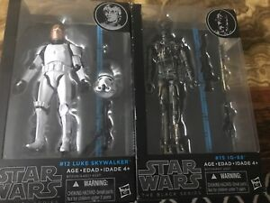 STAR WARS BLACK SERIES IG-88 AND LUKE SKYWALKER