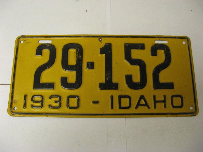 1930 30 Idaho ID License Plate 29-152