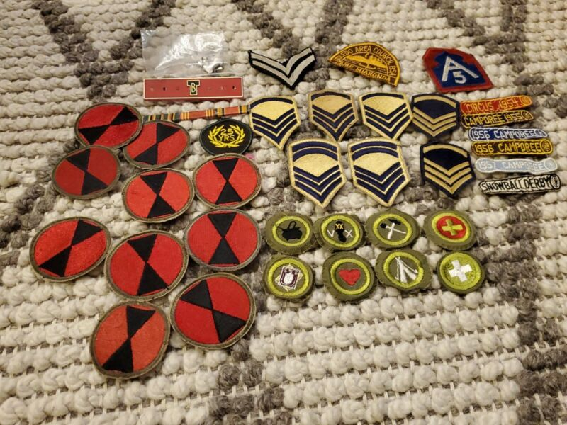 Vintage Mixed Lot Boy Scouts Ptaches Badges collection