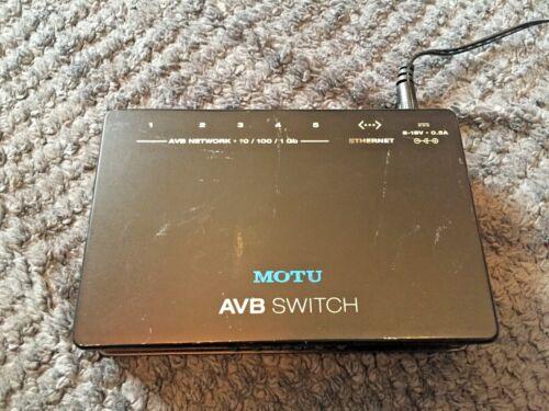 MOTU AVB Switch 5- Port Audio Video Bridging Switch