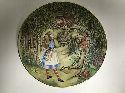 Georges Boyer Alice in Wonderland Alice and the Cheshire Cat Vintage Plate