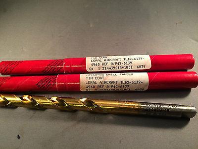 .4560 Nib Cleveland Twist Drill Tanged Loral Aircraft Drill Tin Coat
